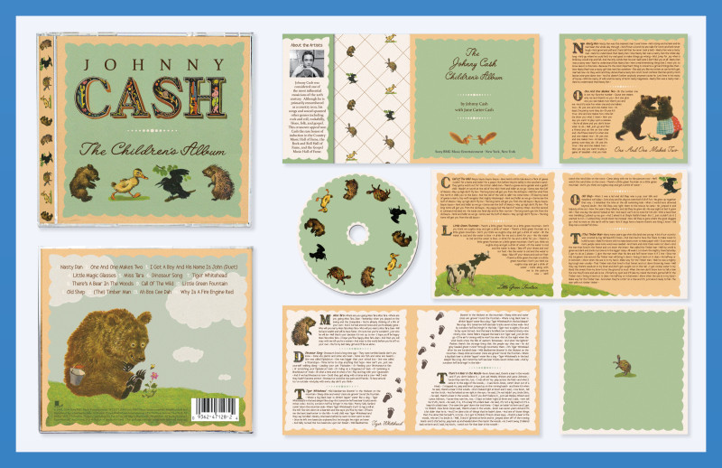 Johnny Cash Children's Album CD Package